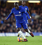 Ngolo Kante of Chelsea during the premier league match at Stamford Bridge Stadium, London. Picture date 30th December 2017. Picture credit should read: Robin Parker/Sportimage