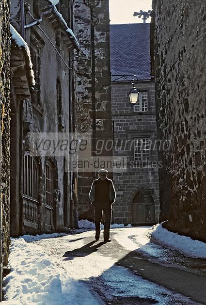 Europe/France/Auvergne/15/Cantal/Salers: Détail d'une rue
