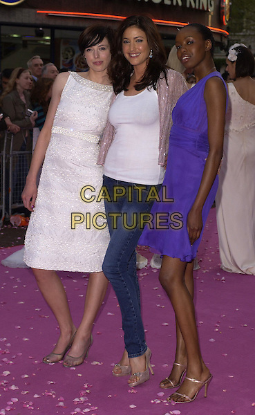 "LISA SNOWDON & GUESTS.""Confetti"" world premiere at Vue West End, London, UK..May 3rd, 2006.Ref: CAN.full length purple white jeans denim dress.www.capitalpictures.com.sales@capitalpictures.com.©Capital Pictures"