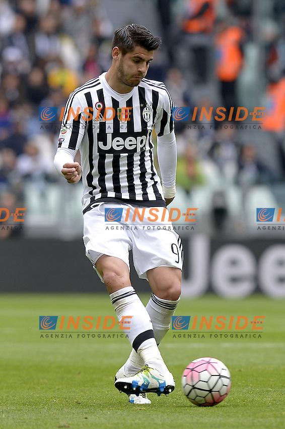 Alvaro Morata Juventus,<br /> Torino 01-05-2016, Juventus Stadium, Football Calcio 2015/2016 Serie A, Juventus - Carpi, Foto Filippo Alfero/Insidefoto