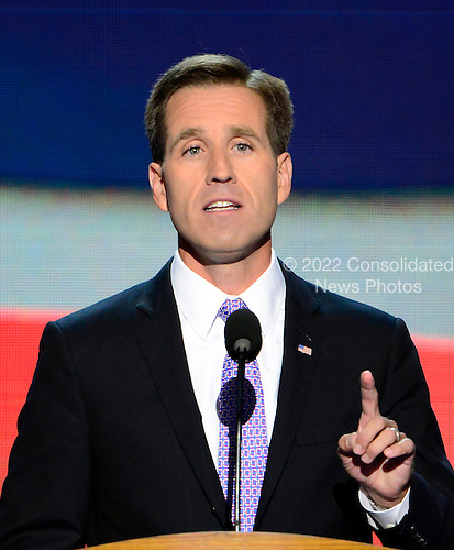 Delaware Attorney General Beau Biden nominates his Dad, United States Vice President Joe Biden, for re-election as Vice President of the United States at the 2012 Democratic National Convention in Charlotte, North Carolina on Thursday, September 6, 2012.  .Credit: Ron Sachs / CNP.(RESTRICTION: NO New York or New Jersey Newspapers or newspapers within a 75 mile radius of New York City)