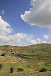 Israel, Lower Galilee. A view from Tel Yodfat