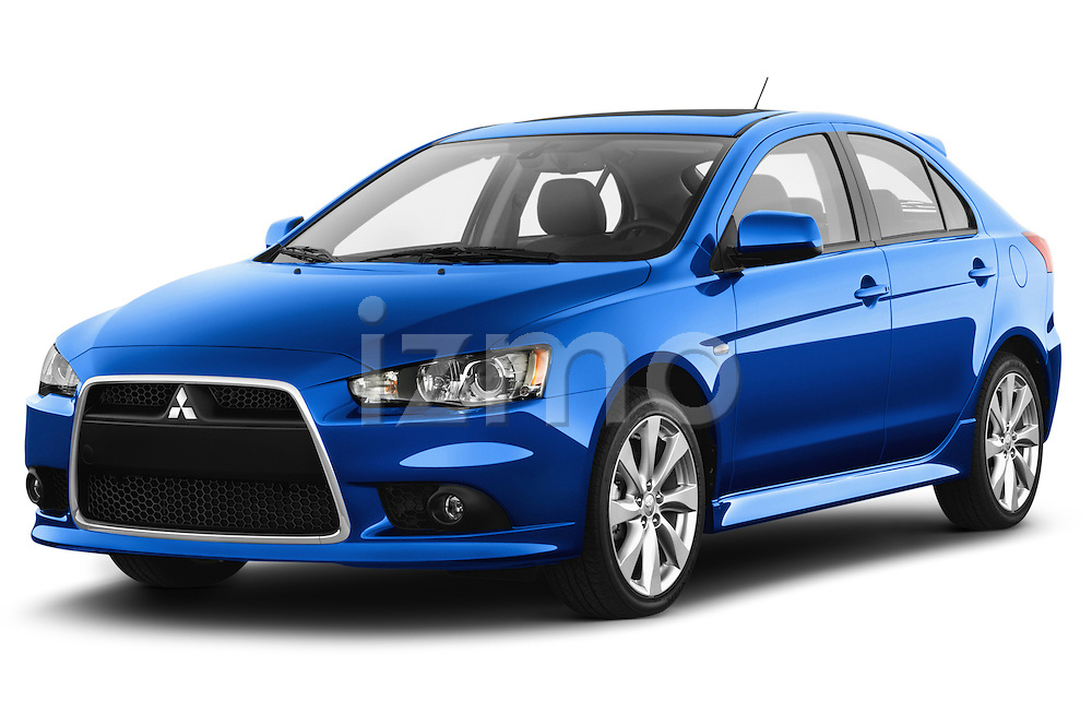 2015 Mitsubishi Lancer  Sportback 5 Door Hatchback angular front stock photos of front three quarter view