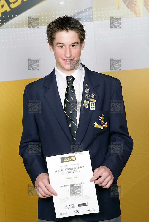 Cycling Boys Winner - Blair James. ASB College Sport Young Sportsperson of the Year Awards 2006, held at Eden Park on Thursday 16th of November 2006.<br />