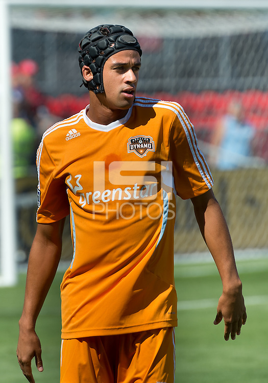 July 28, 2012: Houston Dynamo forward Calen Carr #3. during the warm-up game between Toronto FC and the Houston Dynamo at BMO Field in Toronto, Ontario Canada..The Houston Dynamo won 2-0.