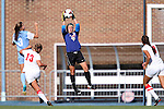 30 August 2013: New Mexico's Cassie Ulrich (0) catches the ball. The University of North Carolina Tar Heels hosted the University of New Mexico Lobos at Fetzer Field in Chapel Hill, NC in a 2013 NCAA Division I Women's Soccer match. UNC won the game 2-1.