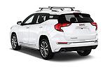 Car pictures of rear three quarter view of a 2018 GMC Terrain Denali base 5 Door SUV angular rear