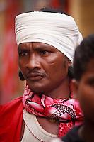 Abhujmaria tribe man in Narayanpur village in Chhattisgarh India