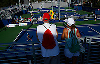 NEW YORK, NY AUG 27: People attends a day of practice at the USTA Billie Jean King National Tennis Center in Flushing Meadows, on August 27, 2016 in New York City. (Photo by VIEWpress)
