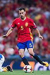 Sergio Busquets of Spain in action during their 2018 FIFA World Cup Russia Final Qualification Round 1 Group G match between Spain and Italy on 02 September 2017, at Santiago Bernabeu Stadium, in Madrid, Spain. Photo by Diego Gonzalez / Power Sport Images