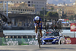 Laurens De Plus (BEL) Quick-Step Floors during Stage 1 of the La Vuelta 2018, an individual time trial of 8km running around Malaga city centre, Spain. 25th August 2018.<br /> Picture: Eoin Clarke | Cyclefile<br /> <br /> <br /> All photos usage must carry mandatory copyright credit (© Cyclefile | Eoin Clarke)