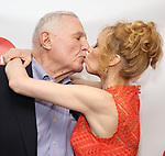 Maddie Corman with her dad attends the 2019 Off Broadway Alliance Awards Reception at Sardi's on June 18, 2019 in New York City.