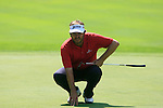 Jose Manuel Lara (ESP) lines up his putt on the 5th green during Day 3 of the BMW Italian Open at Royal Park I Roveri, Turin, Italy, 11th June 2011 (Photo Eoin Clarke/Golffile 2011)