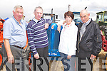 VINTAGE: Looking over one of the vintage tractors on display for show at the Kilflynn Vintage Rally on Sunday l-r: Michael Fitzmaurice, Patrick Flaherty, Kathleen McDonagh (Ardfert) and James Ashe (Castlemaine)........
