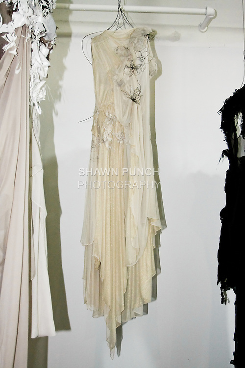"""Mayumi Yamamoto presents her collection at """"The First Eighteen"""", Parsons MFA Fashion Exhibition Reception opening hosted by Donna Karan at 1359 Broadway NYC, May 14, 2012."""
