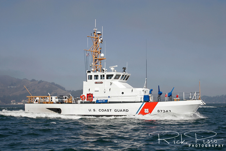 The United States Coast Guard 87 Foot Marine Protector Class Patrol Boat 'Tern' on San Francisco Bay.