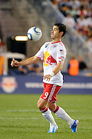 Juan Pablo Angel (9) of the New York Red Bulls. The New York Red Bulls defeated the San Jose Earthquakes 2-0 during a Major League Soccer (MLS) match at Red Bull Arena in Harrison, NJ, on August 28, 2010.