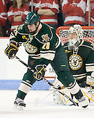 Dan Lawson (Vermont - 28) - The visiting University of Vermont Catamounts tied the Boston University Terriers 3-3 in the opening game of their weekend series at Agganis Arena in Boston, Massachusetts, on Friday, February 25, 2011.