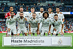 Players of Real Madrid line up and pose for a photo prior to the La Liga 2018-19 match between Real Madrid and Getafe CF at Estadio Santiago Bernabeu on August 19 2018 in Madrid, Spain. Photo by Diego Souto / Power Sport Images