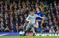 Wayne Rooney of Everton holds off Ethan Ampadu of Chelsea during the Carabao Cup round of 16 match between Chelsea and Everton at Stamford Bridge, London, England on 25 October 2017. Photo by Andy Rowland.