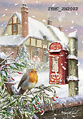 Marcello, CHRISTMAS LANDSCAPES, WEIHNACHTEN WINTERLANDSCHAFTEN, NAVIDAD PAISAJES DE INVIERNO, paintings+++++,ITMCXM2082,#XL# ,red robin