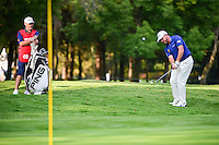 Lee Westwood (ENG) chips on 8 during round 1 of the World Golf Championships, Mexico, Club De Golf Chapultepec, Mexico City, Mexico. 3/2/2017.<br />