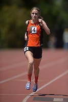 Apr 11, 2015; Los Angeles, CA, USA; Camille Anderson of Occidental College places 10th in the womens 1,500m in 5:12.61 in a SCIAC multi dual meet at Occidental College. Photo by Kirby Lee