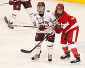 Makenna Newkirk (BC - 19), Sarah Steele (BU - 4) - The Boston College Eagles defeated the visiting Boston University Terriers 5-3 (EN) on Friday, November 4, 2016, at Kelley Rink in Conte Forum in Chestnut Hill, Massachusetts.The Boston College Eagles defeated the visiting Boston University Terriers 5-3 (EN) on Friday, November 4, 2016, at Kelley Rink in Conte Forum in Chestnut Hill, Massachusetts.