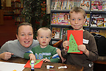 Lorraine, Cody and Ryan Dunne at the Christmas Workshop in The Library...(Photo credit should read Jenny Matthews www.newsfile.ie)....This Picture has been sent you under the conditions enclosed by:.Newsfile Ltd..The Studio,.Millmount Abbey,.Drogheda,.Co Meath..Ireland..Tel: +353(0)41-9871240.Fax: +353(0)41-9871260.GSM: +353(0)86-2500958.email: pictures@newsfile.ie.www.newsfile.ie.
