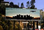 Eagles billboard on the Sunset Strip circa 1972
