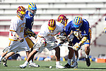 Brandon Johnson (UCSB #28) and  Corey Janoff (USC #5)