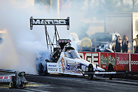 Mar. 30, 2012; Las Vegas, NV, USA: NHRA top fuel dragster driver Antron Brown during qualifying for the Summitracing.com Nationals at The Strip in Las Vegas. Mandatory Credit: Mark J. Rebilas-US PRESSWIRE