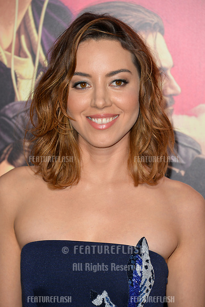 Aubrey Plaza at the Los Angeles premiere for &quot;Baby Driver&quot; at the Ace Hotel Downtown. <br /> Los Angeles, USA 14 June  2017<br /> Picture: Paul Smith/Featureflash/SilverHub 0208 004 5359 sales@silverhubmedia.com