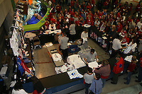 16 December 2006: The merchandise stands during Stanford's 30-27, 26-30, 28-30, 27-30 loss against the Nebraska Huskers in the 2006 NCAA Division I Women's Volleyball Final Four Championship match at the Qwest Center in Omaha, NE.