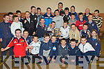 6540-6541.Young Dreams - Members of the juvenile Ardfert Hurling teams admiring the Liam McCarthy Cup at their awards night held in The St Brendan's Community Centre on Friday night. Front kneeling: Fionan Mackessy, Ryan Duggan, Bobby O'Regan, Jack McCarthy, John B. O'Shea, Aidan Healy, Nathan O'Driscoll, Micheal O'Sullivan and Michael Davis. Sitting with cup; Jack Nevilinian, Kevin Hanafin, Padraig Kearney, Brendan O'Connor and Diarmuid O'Connor. Standing: John O'Driscoll, Shane McCrohan, Eoin Kearney, Darragh McGarty, Michael Ryan, Cian Hussey, Daniel Finnegan, Ryan Delaney, Padraig Casey, Kevin Shanahan, Eoghan Courtney, Fionn Kavanagh, Eric Leen, Iarla Courtney, Patrick McElligot, Padraig O'Connor and Billy Donovan.................................................................................................................... ............