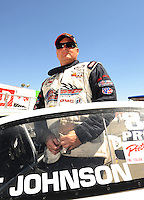Jul. 17, 2010; Sonoma, CA, USA; NHRA pro stock driver Kurt Johnson during qualifying for the Fram Autolite Nationals at Infineon Raceway. Mandatory Credit: Mark J. Rebilas-