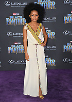 "Yara Shahidi at the world premiere for ""Black Panther"" at the Dolby Theatre, Hollywood, USA 29 Jan. 2018<br /> Picture: Paul Smith/Featureflash/SilverHub 0208 004 5359 sales@silverhubmedia.com"
