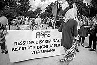 manifestazione contro il razzismo Milano 20 maggio2017, insieme senza muri
