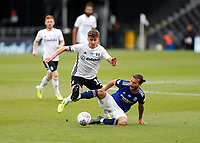 4th July 2020; Craven Cottage, London, England; English Championship Football, Fulham versus Birmingham City; Ivan Sunjic of Birmingham City challenges Tom Cairney of Fulham