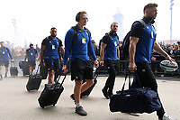 Miles Reid and the rest of the Bath Rugby team arrive at Twickenham Stadium. Gallagher Premiership match, The Clash, between Bath Rugby and Bristol Rugby on April 6, 2019 at Twickenham Stadium in London, England. Photo by: Rogan Thomson / JMP for Onside Images