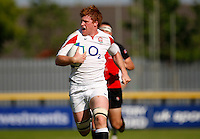 Photo: Richard Lane/Richard Lane Photography. .IRB Junior World Championship. England U20 v Canada U20. 10/06/2008. England's Hugo Ellis breaks for a try.