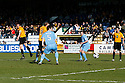 Liam Hughes of Cambridge United (l) scores the opening goal during the Blue Square Bet Premier match between Cambridge United and York City at the Abbey Stadium, Cambridge on 19th March, 2011.© Kevin Coleman 2011