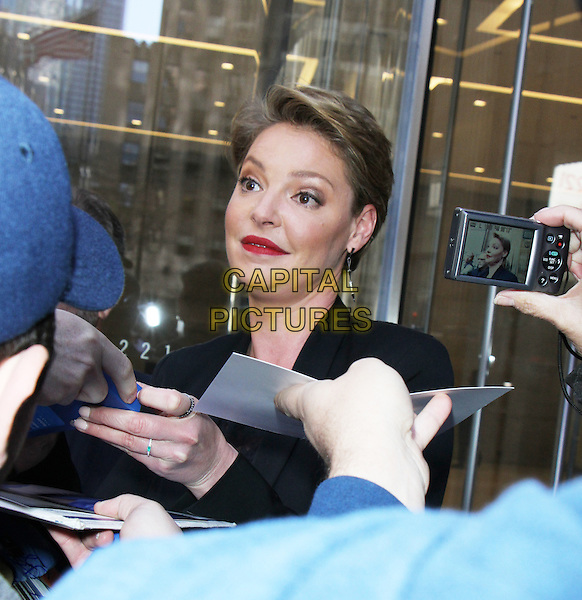 NEW YORK, NY - APRIL 20: Katherine Heigl seen after an appearance on Howard Stern's SiriusXM radio show in New York City on April 20, 2016. <br /> CAP/MPI/RW<br /> &copy;RW/MPI/Capital Pictures