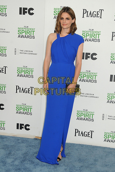 1 March 2014 - Santa Monica, California - Stana Katic. 2014 Film Independent Spirit Awards - Arrivals held at Santa Monica Beach. <br /> CAP/ADM/BP<br /> &copy;Byron Purvis/AdMedia/Capital Pictures