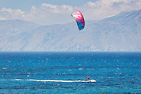 Kitesurfing in Agrillaopotamos of Karpathos, Greece