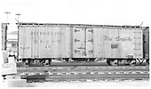Side view of D&amp;RGW short reefer #40 at Antonito.<br /> D&amp;RGW  Antonito, CO  Taken by Maxwell, John W. - 7/18/1946