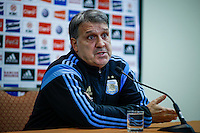 "Argentina soccer coach Gerardo Daniel ""Tata"" Martino speaks with the media before the friendly match between Argentina and Ecuador in New Jersey. 03.30.2015. Eduardo MunozAlvarez / VIEWpress."