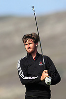 Andrew Wilson from England on the 4th tee during Round 2 Singles of the Men's Home Internationals 2018 at Conwy Golf Club, Conwy, Wales on Thursday 13th September 2018.<br /> Picture: Thos Caffrey / Golffile<br /> <br /> All photo usage must carry mandatory copyright credit (&copy; Golffile | Thos Caffrey)