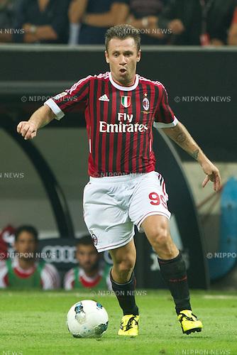 Antonio Cassano (Milan), SEPTEMBER 09, 2011 - Football : Italian Serie A 2011-2012, match between AC Milan 2-2  SS Lazio at San Siro Meazza Stadium, Milan, Italy, (Photo by Enrico Calderoni/AFLO SPORT) [0391]