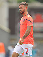 Blackburn Rovers' Adam Armstrong during the pre-match warm-up <br /> <br /> Photographer Kevin Barnes/CameraSport<br /> <br /> The EFL Sky Bet Championship - Blackburn Rovers v Charlton Athletic - Saturday 3rd August 2019 - Ewood Park - Blackburn<br /> <br /> World Copyright © 2019 CameraSport. All rights reserved. 43 Linden Ave. Countesthorpe. Leicester. England. LE8 5PG - Tel: +44 (0) 116 277 4147 - admin@camerasport.com - www.camerasport.com
